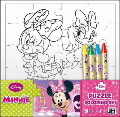 Minnie omalovánkové puzzle