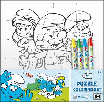 Šmoulové omalovánkové puzzle