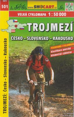 Trojmezí Česko-Slovensko-Rakousko cyklomapa 1:50 000