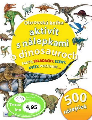 Obrázok Obrovská kniha aktivít s nálepkami o dinosauroch