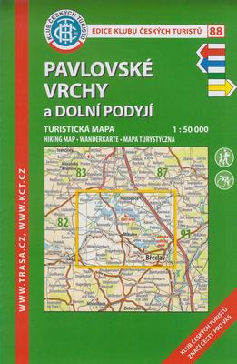 KČT 88 Pavlovské vrchy a Dolní Podyjí 1:50 000