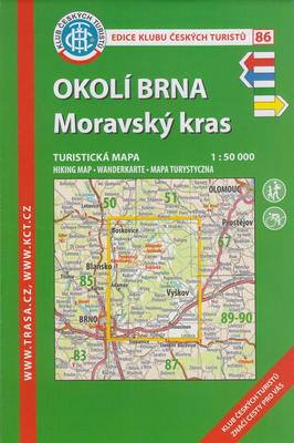 KČT 86 Okolí Brna - Moravský kras 1:50 000