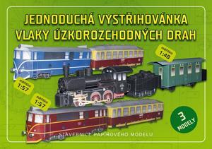 Obrázok Jednoduchá vystřihovánka vlaky úzkorozchodných drah