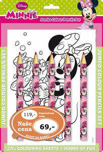 Obrázok Omalovánka s maxi pastelkami Minnie