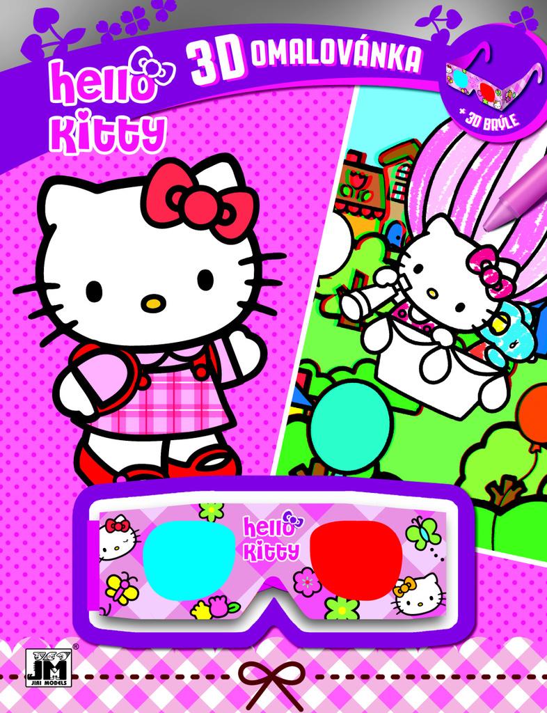 3D omalovánka Hello Kitty