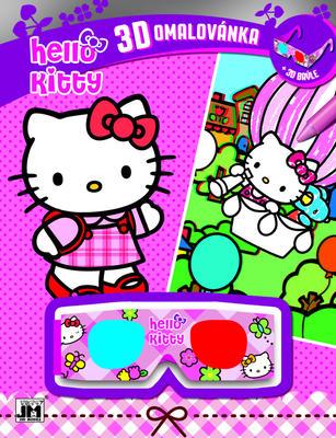 Obrázok 3D omalovánka Hello Kitty