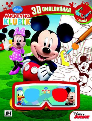 Obrázok 3D omalovánka Mickeyho klubík