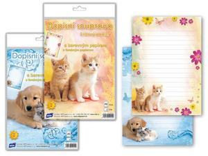 Obrázok Dopisní papír barevný 5+10 Zvířata