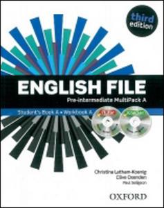 Obrázok English File Third Edition Pre-intermediate Multipack A