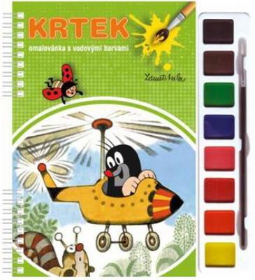 Obrázok Krtek omalovánka s vodovými barvami