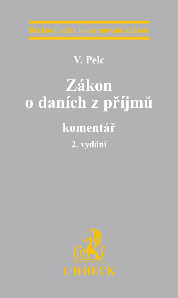 Zákon o daních z příjmů komentář - Vladimír Pelc