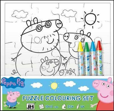 Peppa Pig omalovánkové puzzle