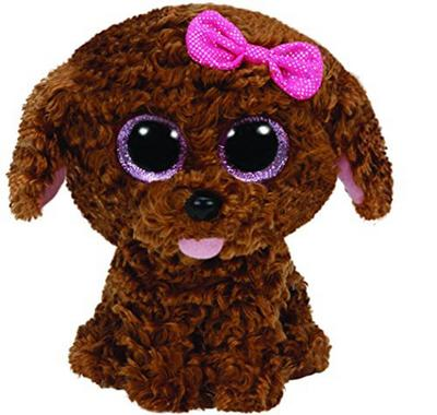 Obrázok Beanie Boos Maddie pejsek hnědý s mašličkou 24 cm