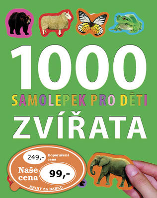Obrázok 1000 samolepek pro děti  Zvířata