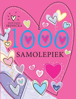 Obrázok 1000 samolepiek Mám rada srdiečka
