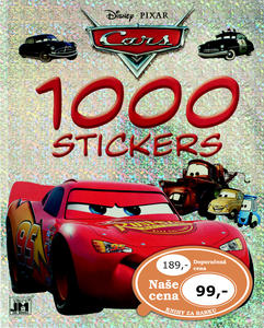 Obrázok 1000 stickers Auta omalovánka
