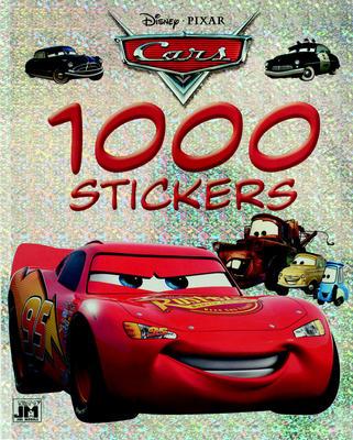 1000 stickers Auta omalovánka