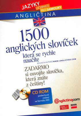 Obrázok 1500 anglických slovíček, která se rychle naučíte + CD