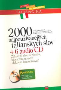 Obrázok 2000 najpoužívanejších talianskych slov + 6 AUDIO CD