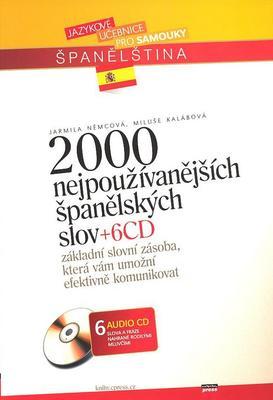 Obrázok 2000 nejpoužívanějších španělských slov + 6CD