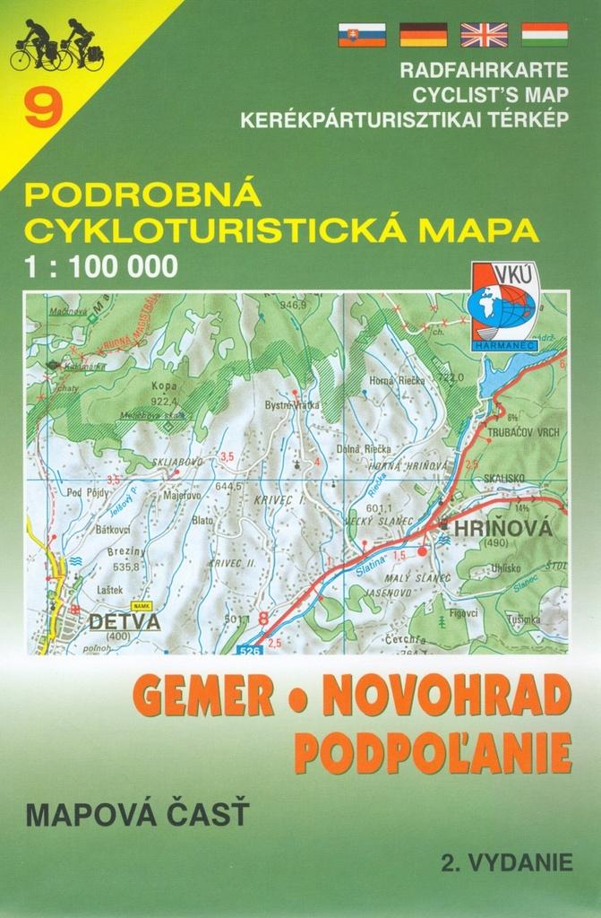 9 Gemer,Novohrad,Podpoľanie 1:100 000