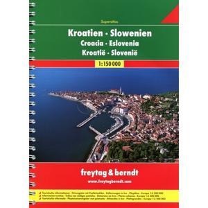 Obrázok AA Chorvatsko-Slovinsko A4 atlas 1:150 000