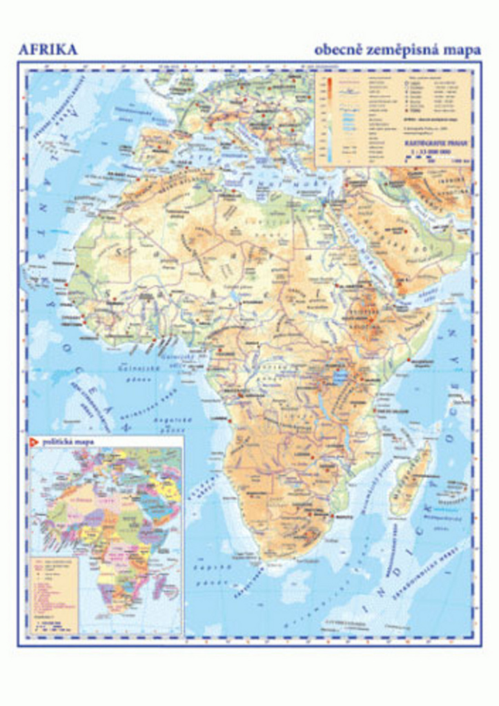 Afrika Obecne Zemepisna Mapa Knihcentrum Cz