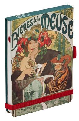 Obrázok Alfons Mucha Bieres flip-pad notes