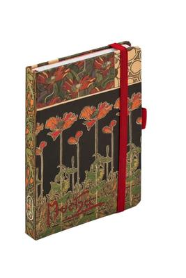 Obrázok Alfons Mucha Dark Poppies journal notes