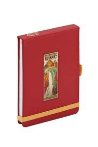 Obrázok Alfons Mucha Champagne flip-pad notes