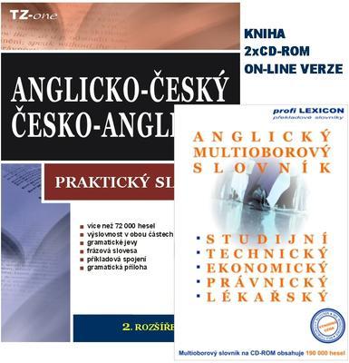 Obrázok Anglicko-český Česko-anglický praktický slovník (obsahuje knihu a 2 CD ROM)