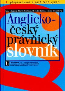 Obrázok Anglicko-český právnický slovník