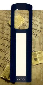 Obrázok Antická záložka Text tmavě modrá - AZ 011