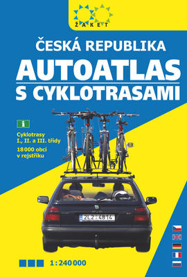 Obrázok Autoatlas České republiky s cyklotrasami