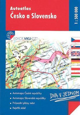 Autoatlas Česko a Slovensko 1:500 000