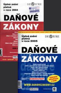 Obrázok Balíček 2ks Daňové zákony 2004 + Daňové zákony 2005