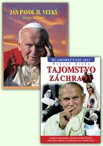 Obrázok Balíček 2 ks Ján Pavol II. Veľký Stopy svätosti Tajomstvo záchrany Blahorečenie