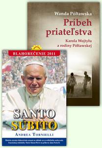 Obrázok Balíček 2 ks Príbeh priateľstva Santo Subito Blahorečenie 2011