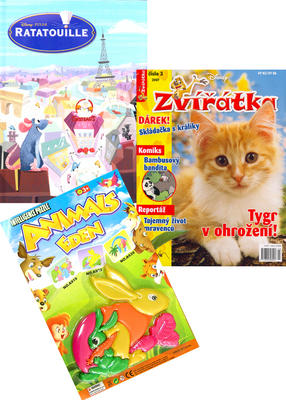 Obrázok Balíček 2ks Ratatouille HC 64 + časopis Zvířátka