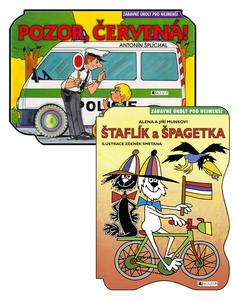 Obrázok Balíček 2ks Štaflík a Špagetka + Pozor, červená