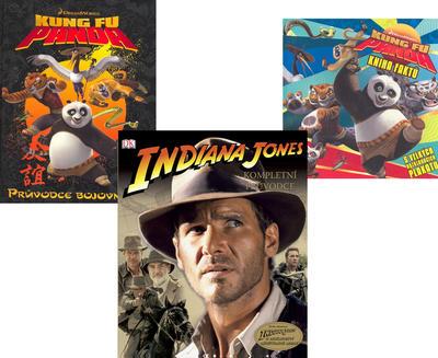 Balíček 3ks Kung Fu Panda + Indiana Jones + Kung Fu Panda