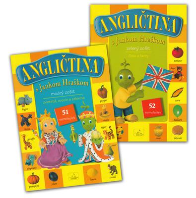 Obrázok Balíček Angličtina s Jankom Hraškom zelený a modrý zošit