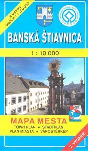 Obrázok Banská Štiavnica 1 : 10 000 Mapa mesta Town plan Stadtplan Plan miasta Várostérk