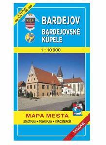 Obrázok Bardejov Bardejovské kúpele Mapa mesta Town plan Stadtplan Plan miasta Várostérk