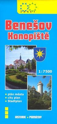 Benešov plán města 1:7500