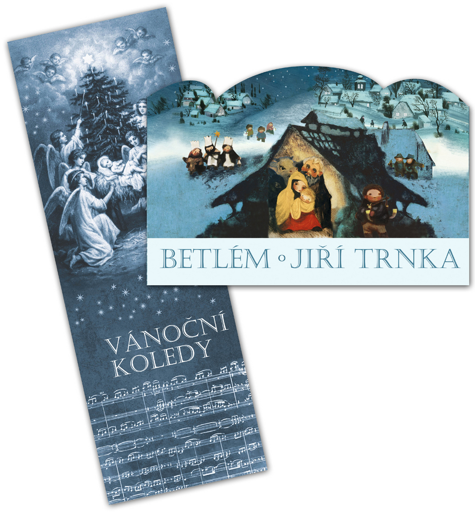 Betlém Jiří Trnka skládací + Vánoční koledy s notami - Klára Trnková