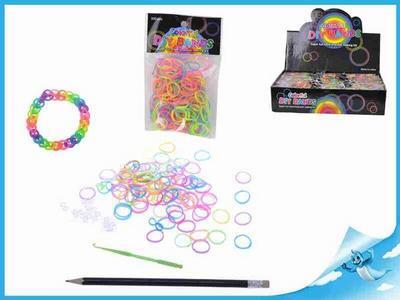 Obrázok BOX Gumičky 300ks + doplňky 2 druhy v sáčku 36 ks v DBX