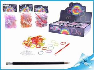 Obrázok BOX gumičky gumičky 300ks + doplňky 3druhy v sáčku, 36 ks v DBX