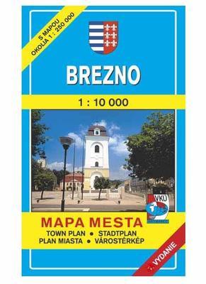 Brezno Mapa mesta Town plan Stadtplan Plan miasta Várostérkép