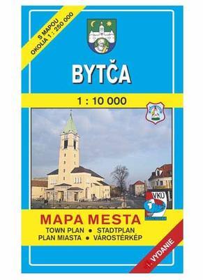 Obrázok Bytča Mapa mesta Town plan Stadtplan Plan miasta Várostérkép